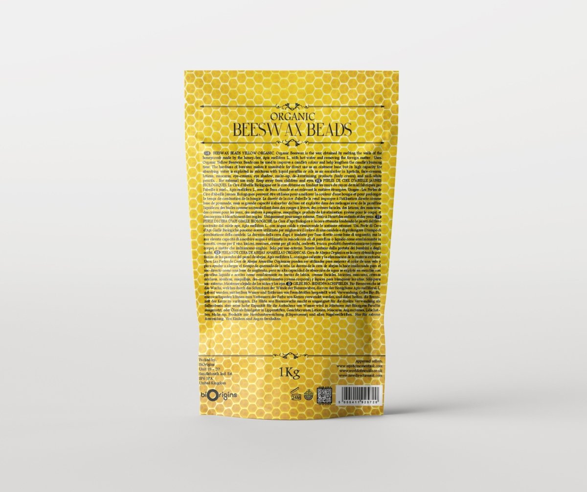 Beeswax Organic Refined 100% Pure - Mystic Moments UK