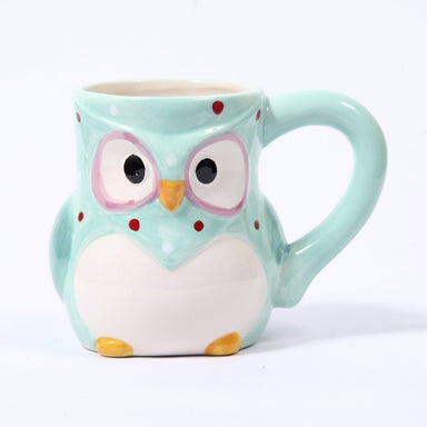 Blue Ceramic Polka Dot Owl Mug - Mystic Moments UK
