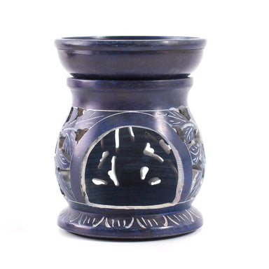Blue Soapstone Oil Burner - Mystic Moments UK