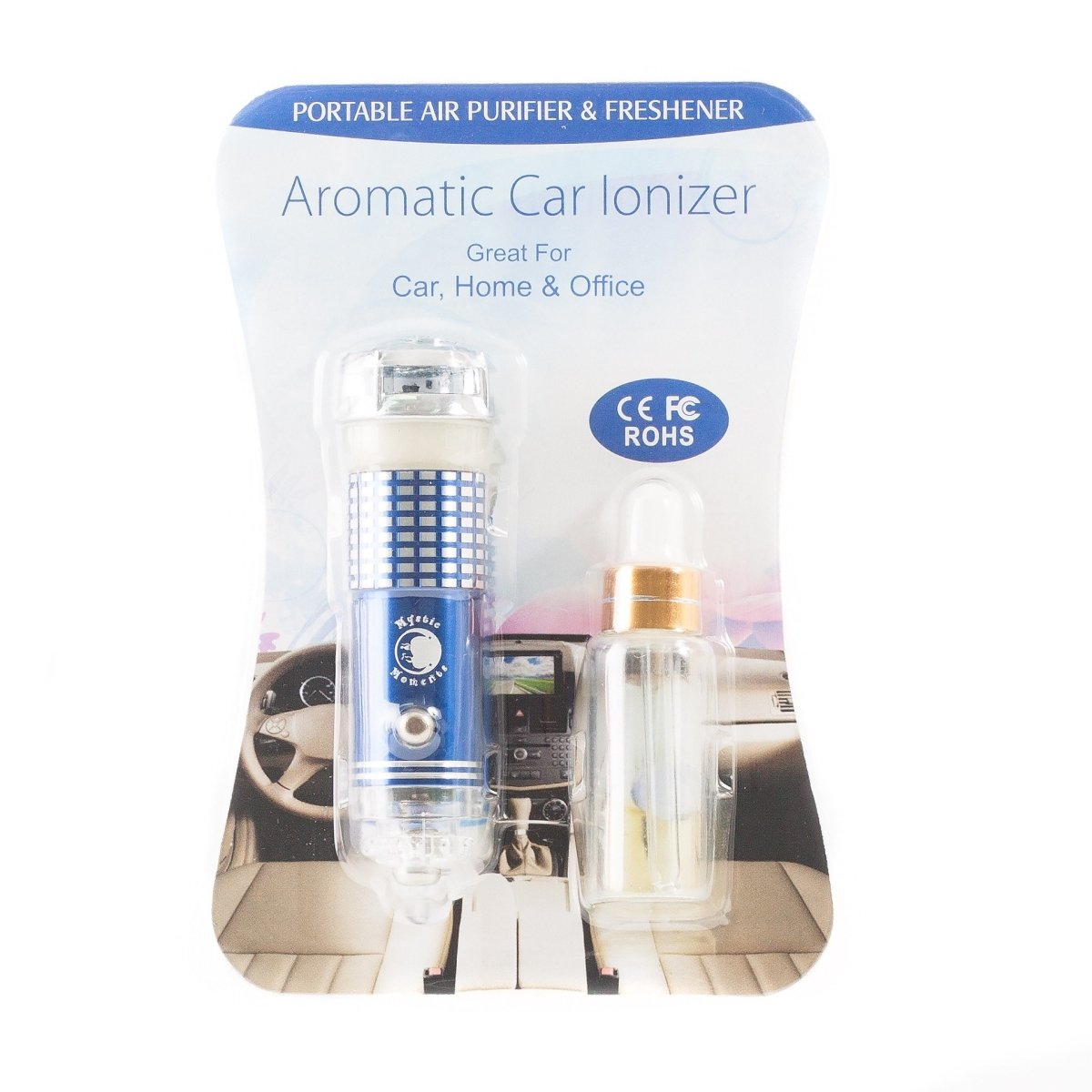 Car Aroma Air Purifier Ionizer - Mystic Moments UK