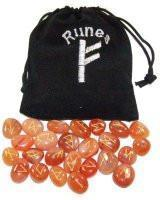 Carnelian Crystal Rune Set - Mystic Moments UK