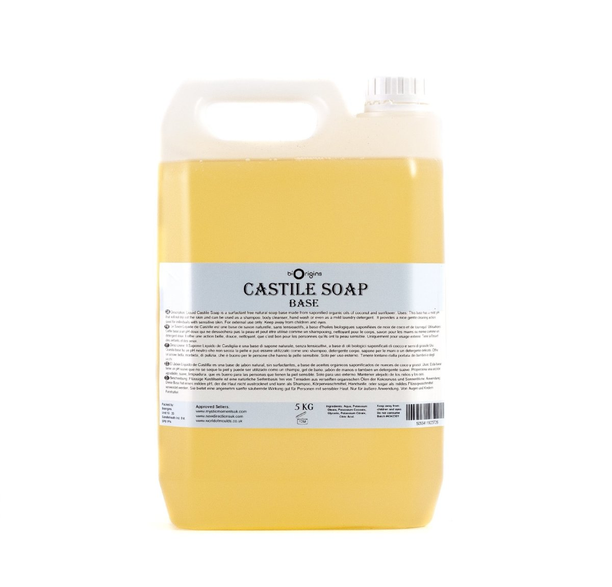 Castile Liquid Soap - Mystic Moments UK
