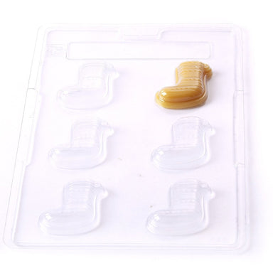 Christmas Stocking Chocolate/Sweet/Soap/Plaster/Bath Bomb Mould #032 (6 cavity) - Mystic Moments UK
