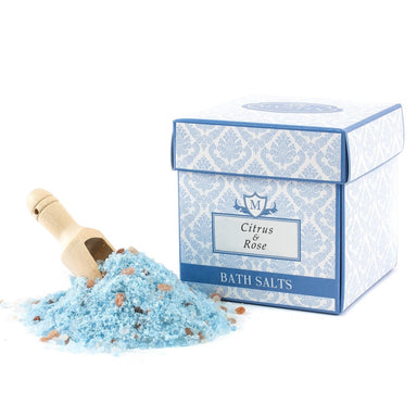 Citrus & Rose Scented Bath Salt 350g - Mystic Moments UK