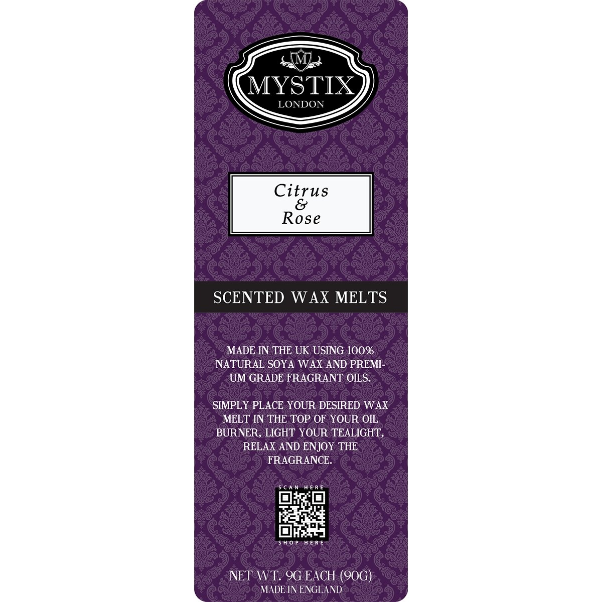 Citrus & Rose | Wax Melt Clamshell - Mystic Moments UK