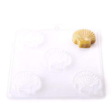 Classic Scallop Shell Soap/Bathbomb Mould 5 Cavity G06 - Mystic Moments UK