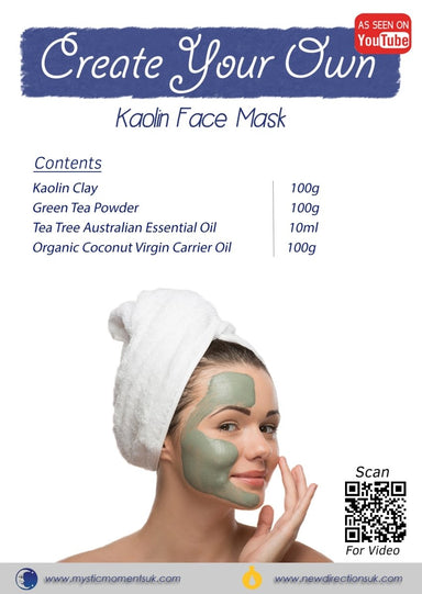Create Your Own – Kaolin Face Mask - Mystic Moments UK