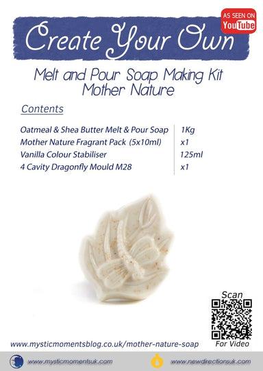 Create Your Own - Melt and Pour Soap Making Kit - Mother Nature - Mystic Moments UK