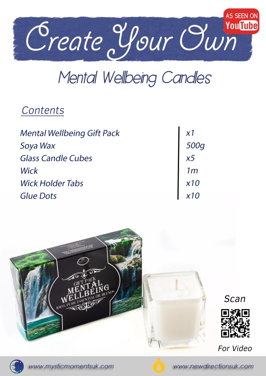 Create Your Own - Mental Wellbeing Candles - Mystic Moments UK