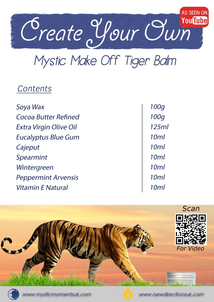 Create Your Own – Tiger Balm - Mystic Moments UK