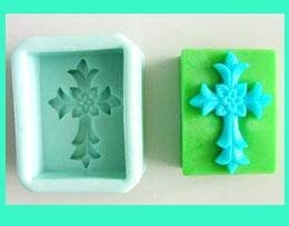 Cross Rectangle Silicone Soap Mould R0102 - Mystic Moments UK