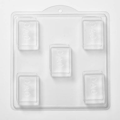 Dad Soap/Bath Bomb/Chocolate/Plaster Mould x 5 M137 - Mystic Moments UK