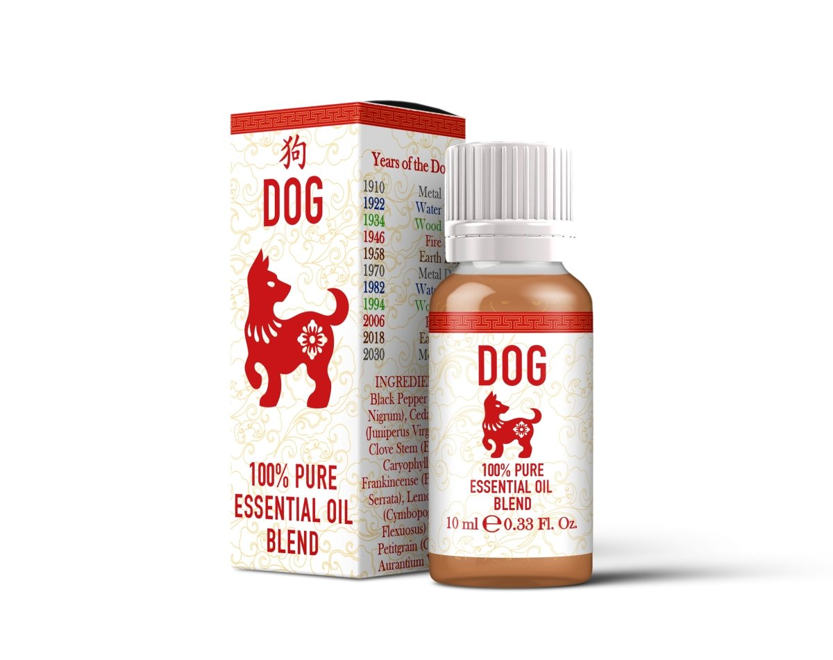 Dog - Chinese Zodiac - Essential Oil Blend - Mystic Moments UK