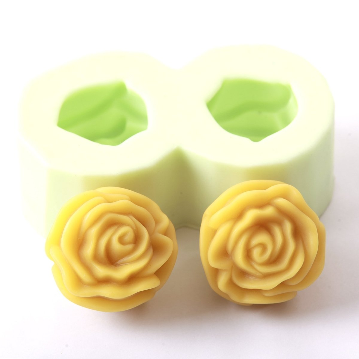 Double Rose Silicone Soap Mould R0075 - Mystic Moments UK
