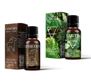 Earth Element & Capricorn Essential Oil Blend Twin Pack (2x10ml) - Mystic Moments UK