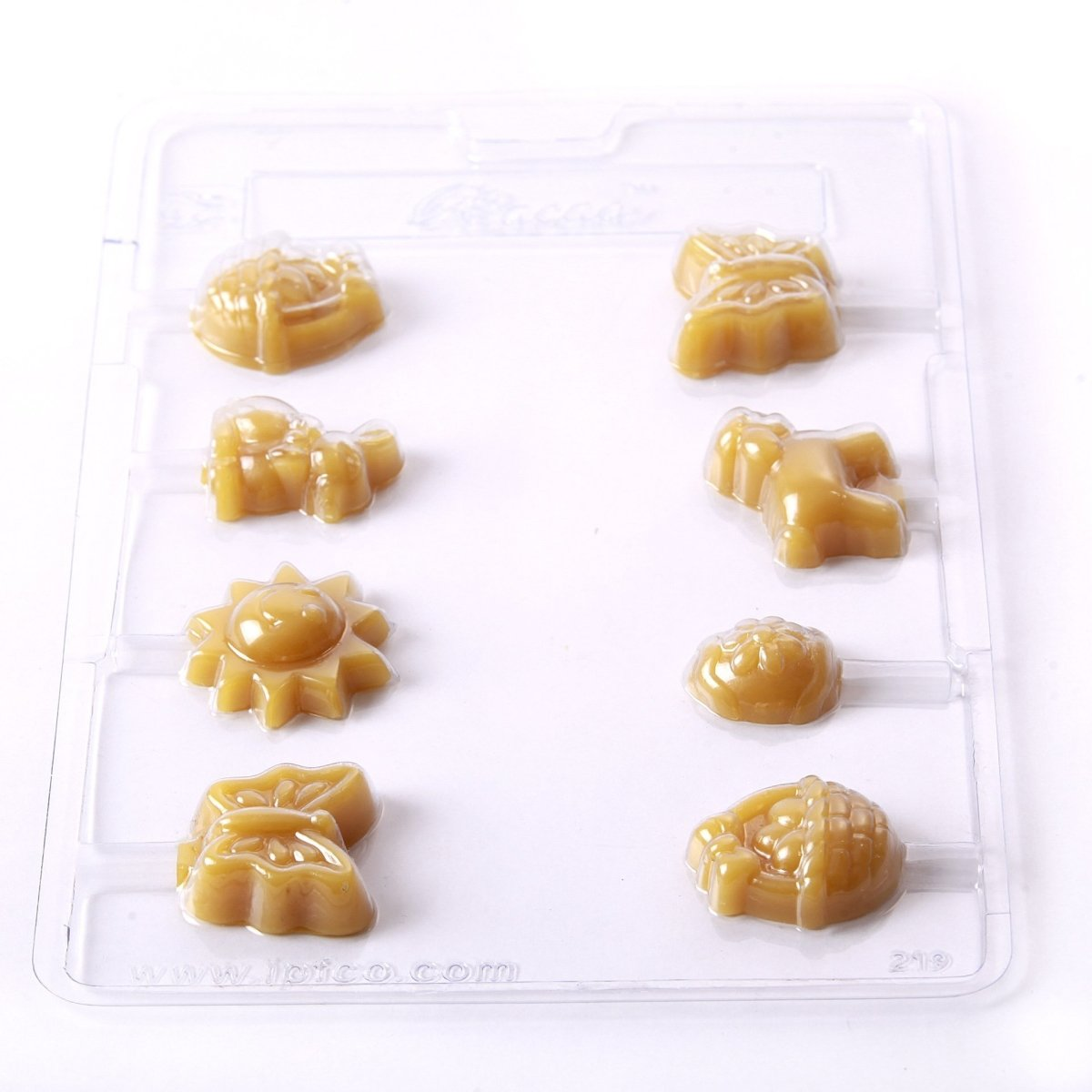 Easter Lollies (B) Chocolate/Sweet/Soap/Plaster/Bath Bomb Mould #219 (8 cavity) - Mystic Moments UK