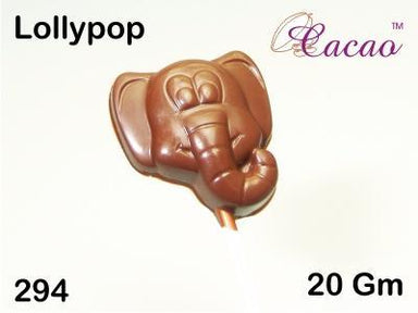 Elephant Lolly Chocolate/Sweet/Soap/Plaster/Bath Bomb Mould #294 (4 cavity) - Mystic Moments UK