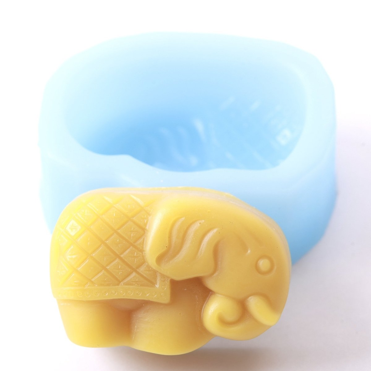 Elephant Silicone Soap Mould R0090 - Mystic Moments UK