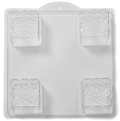 Embossed Knot on a Square PVC Mould (4 Cavity) L04 - Mystic Moments UK