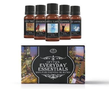 Everyday Essentials | Essential Oil Blend Gift Pack - Mystic Moments UK