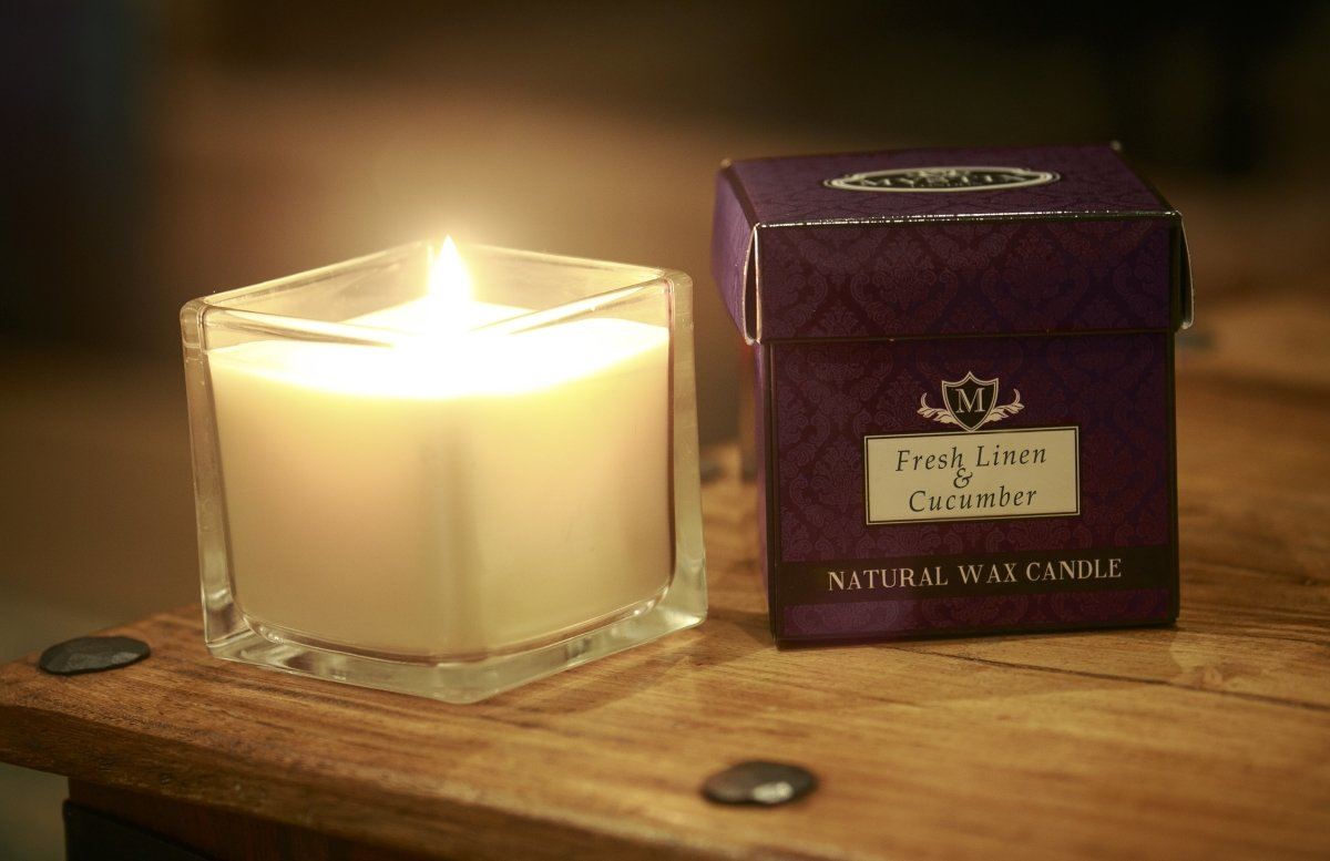 Fresh Linen & Cucumber Scented Candle - Mystic Moments UK