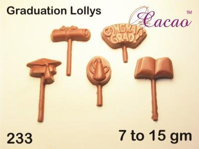 Graduation Lollies Chocolate/Sweet/Soap/Plaster/Bath Bomb Mould #233 (9 cavity) - Mystic Moments UK
