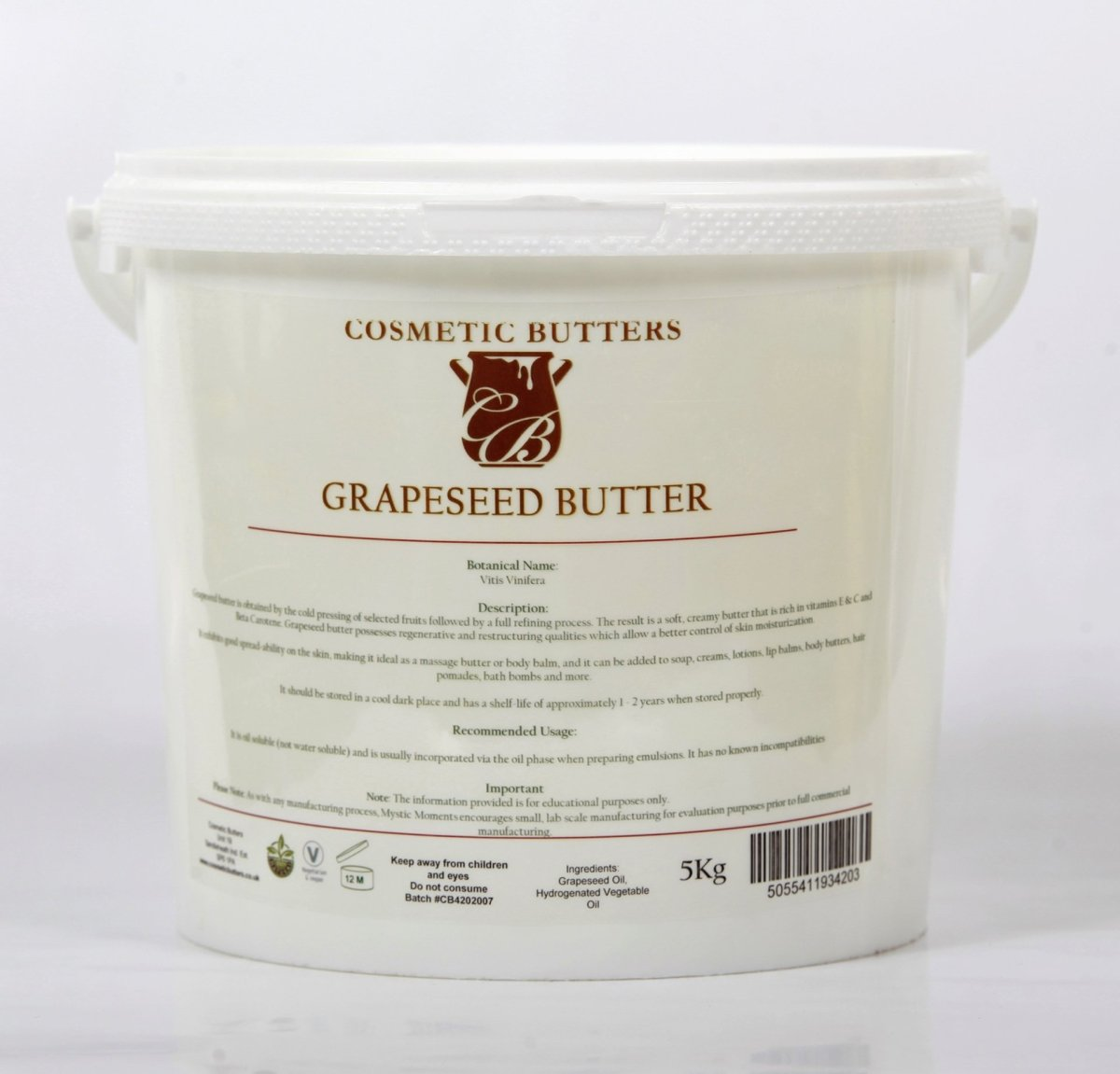 Grapeseed Blended Butter - Mystic Moments UK
