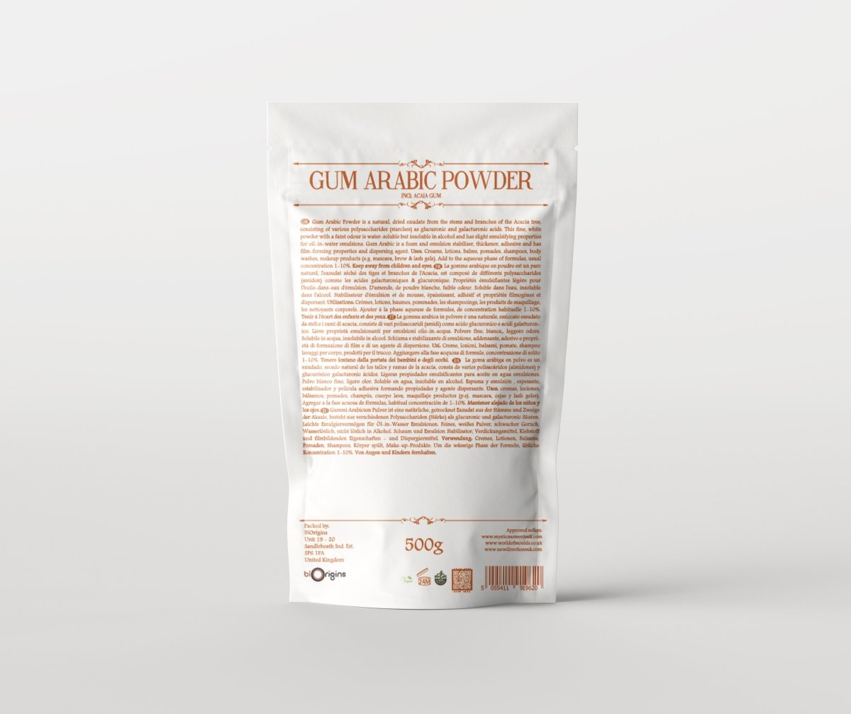 Gum Arabic Powder - Resinoids, Gums, Crystals - Mystic Moments UK