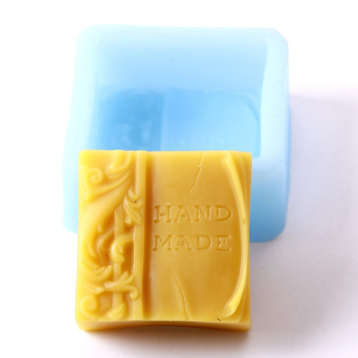 Handmade Square Silicone Soap Mould H0218 - Mystic Moments UK