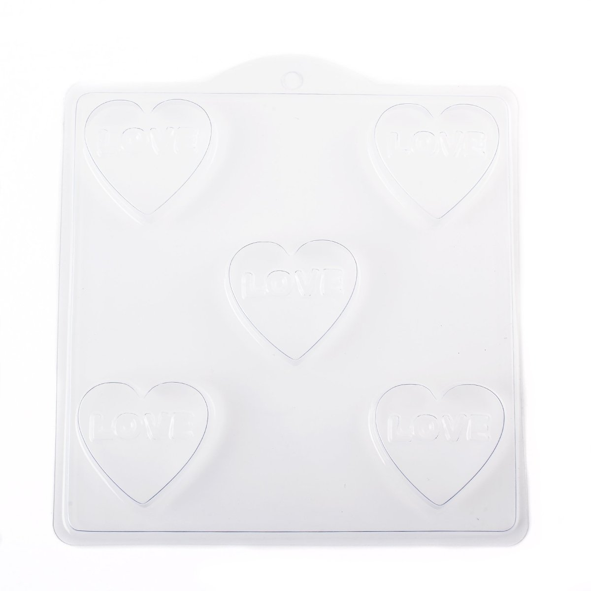 Heart with LOVE Soap/Bathbomb Mould 5 Cavity D08 - Mystic Moments UK