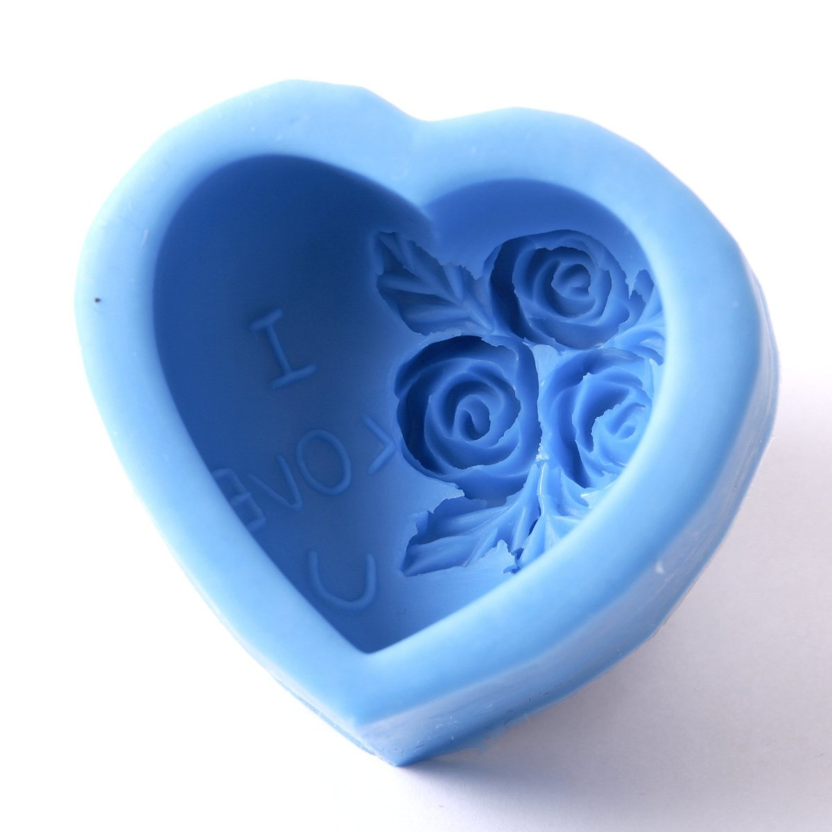 Heart With Roses Silicone Soap Mould R0227 - Mystic Moments UK