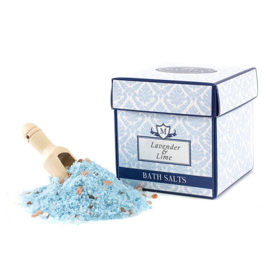 Lavender & Lime Essential Oil Bath Salt 350g - Mystic Moments UK