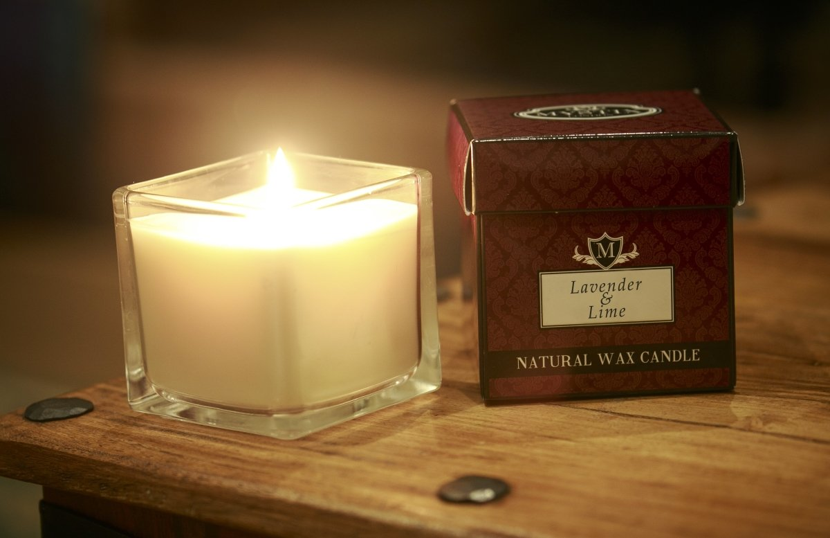 Lavender & Lime Scented Candle - Mystic Moments UK