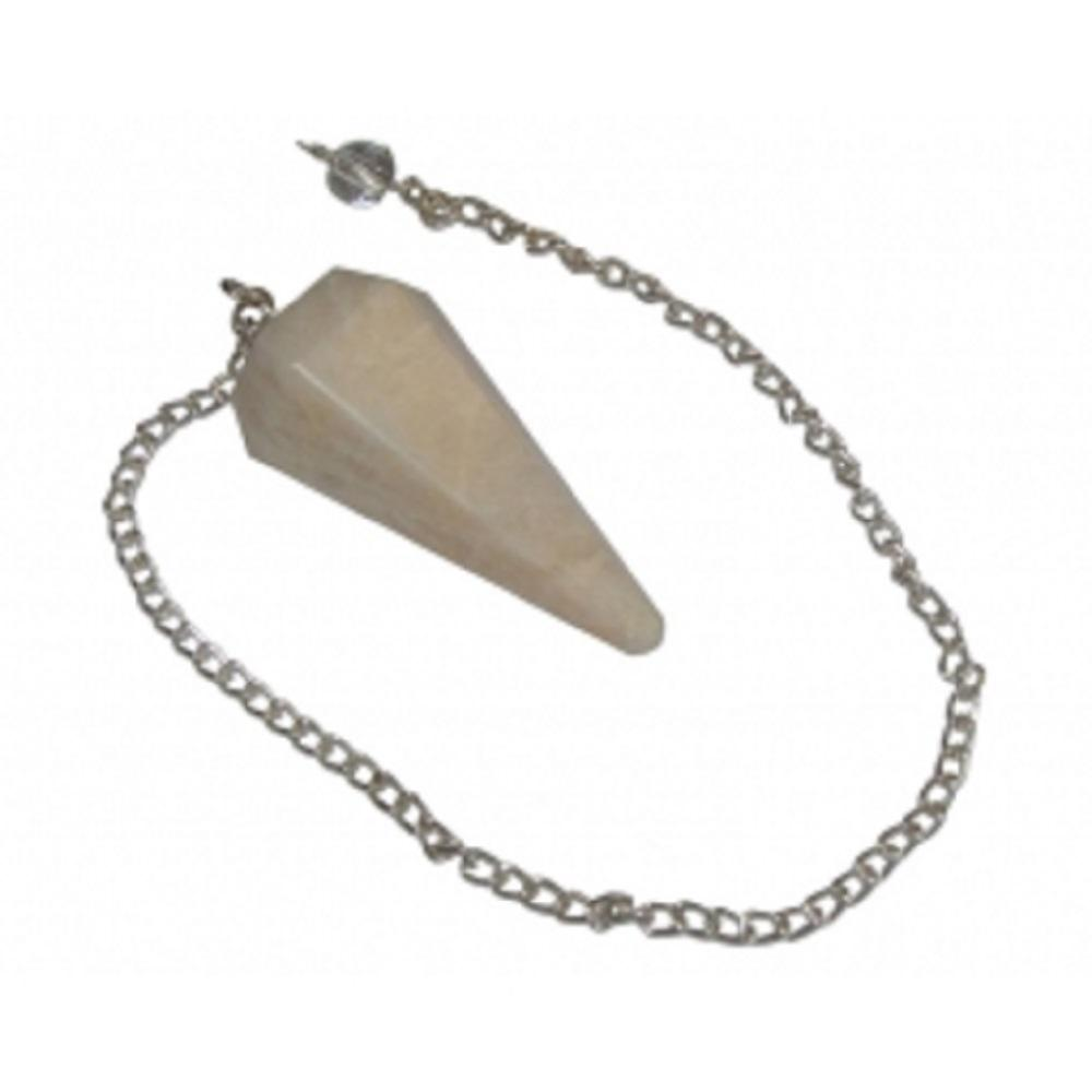 Moonstone (Opalite) Faceted Pendulum - Mystic Moments UK