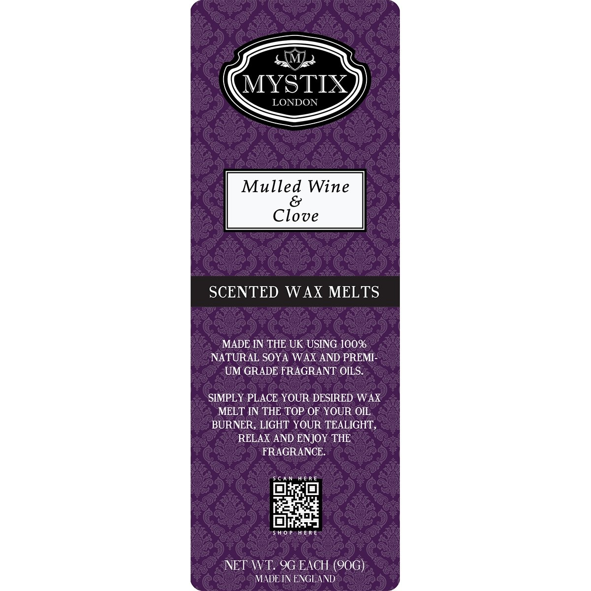 Mulled Wine & Clove | Wax Melt Clamshell - Mystic Moments UK