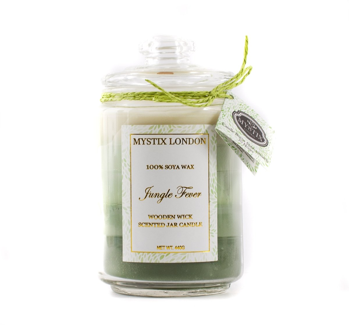Mystix London Jungle Fever Wooden Wick Scented Jar Candle - Mystic Moments UK