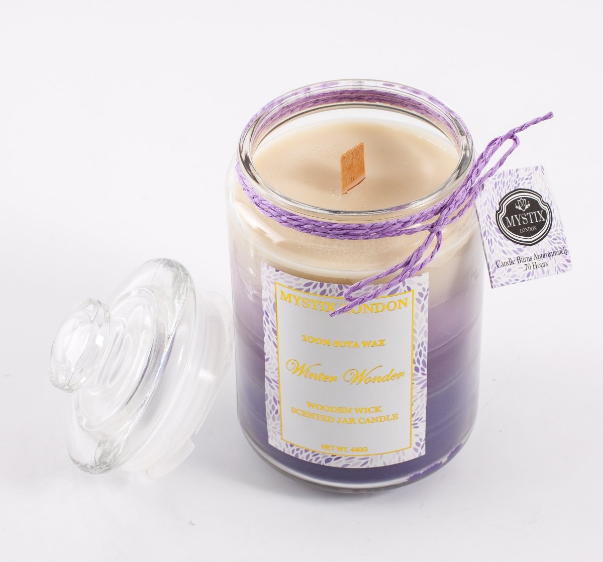 Mystix London Winter Wonder Wooden Wick Scented Jar Candle - Mystic Moments UK