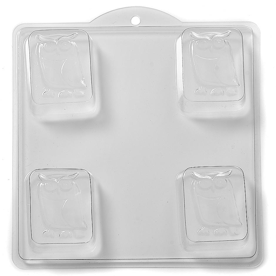 Owl on Rectangle Soap PVC Mould (4 Cavity) H04 - Mystic Moments UK