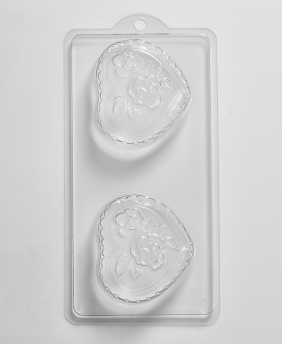 Romantic Heart & Roses PVC Mould (4 Cavity) D01 - Mystic Moments UK