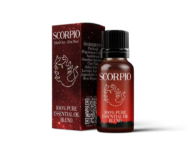 Scorpio - Zodiac Sign Astrology Essential Oil Blend - Mystic Moments UK