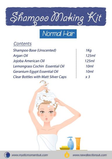 Shampoo Making Kit - NORMAL HAIR - Mystic Moments UK