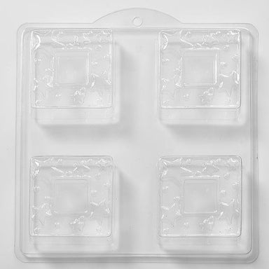 Square Stars Soap/Bath Bomb/Chocolate Mould 4 Cavity M38 - Mystic Moments UK
