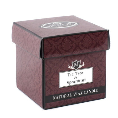 Tea Tree & Spearmint Scented Candle - Mystic Moments UK