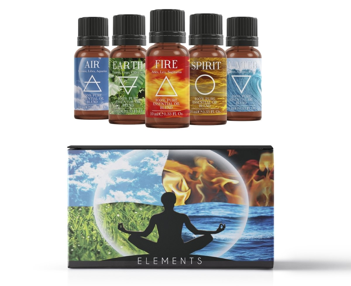 The 5 Elements | Essential Oil Blend Gift Pack - Mystic Moments UK