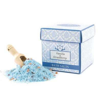 Vanilla & Strawberry Scented Bath Salt 350g - Mystic Moments UK