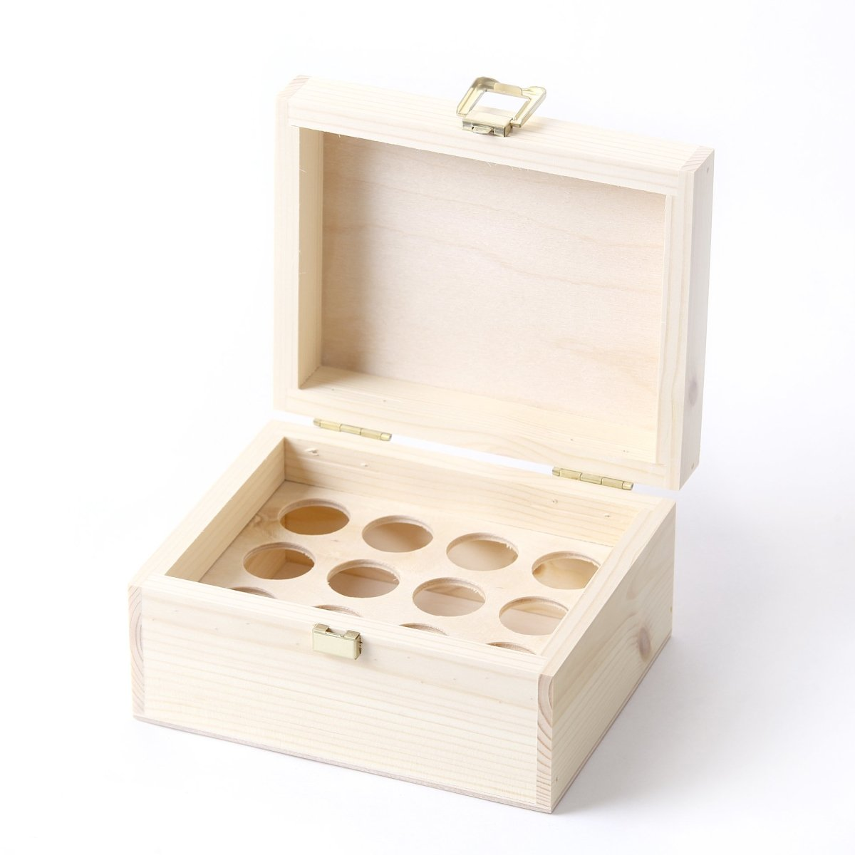 Wooden Aromatherapy Gift Box - (Empty But Can Hold 12 x 10ml Glass Bottles) UK Manufactured - Mystic Moments UK