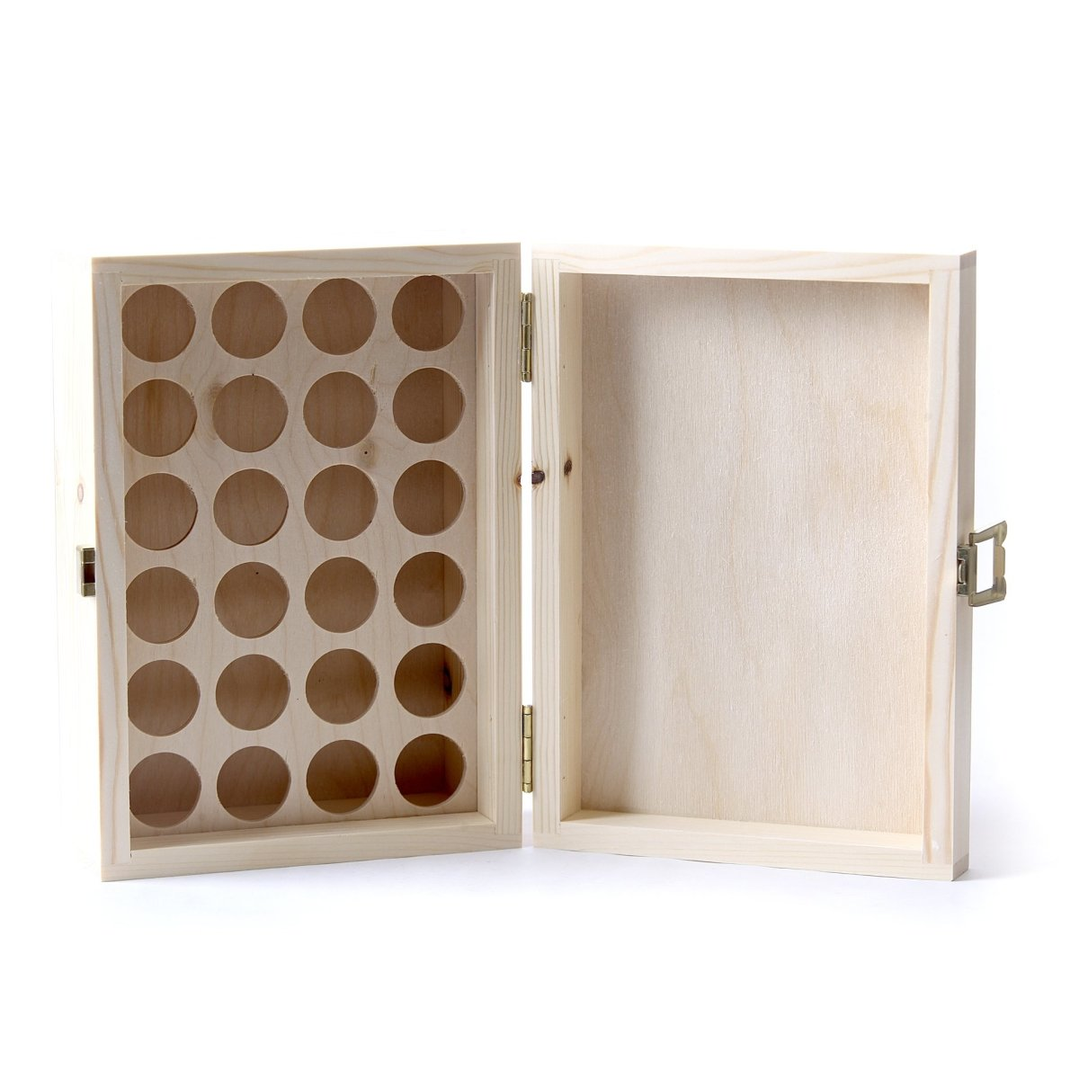 Wooden Aromatherapy Gift Box - (Empty But Can Hold 24 x 10ml Glass Bottles) UK Manufactured - Mystic Moments UK