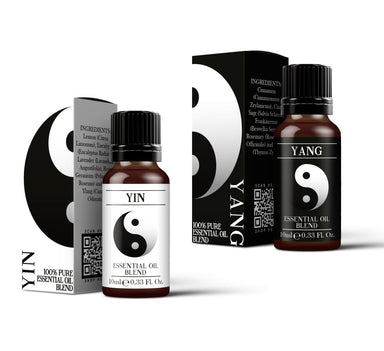 Yin & Yang Essential Oil Blend Twin Pack (2x10ml) - Mystic Moments UK