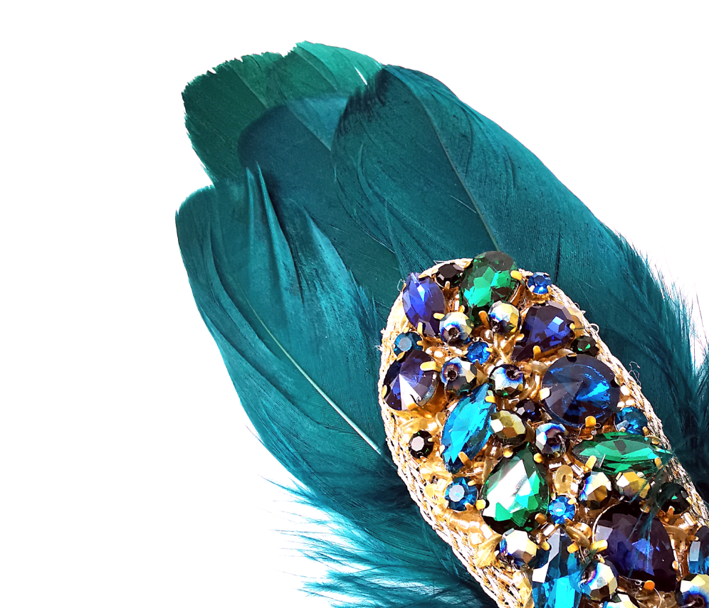 Jewelled Feather Pad - Range of colours