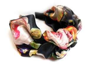 Silk  - floral print knot top band